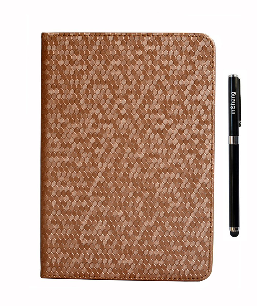inShang IPAD 5 case High quality diamond pattern cover for iPad iPad air (2013) Multi-function stand case+1pc High end class business stylus Pen