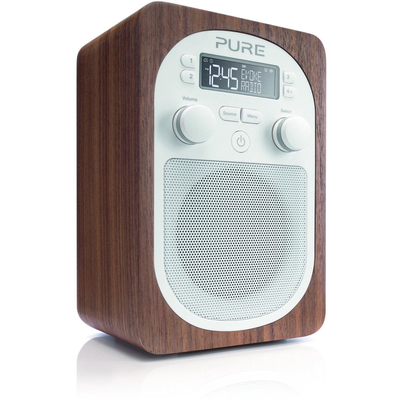 Pure Evoke D2 Portable Digital DAB/FM Radio with Real Wood Cabinet ...