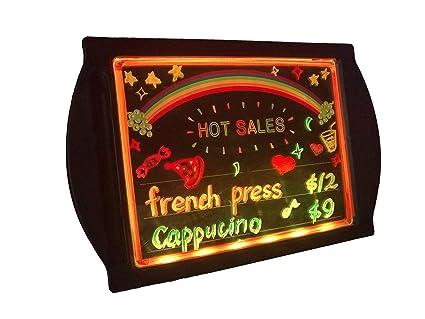 DEEDEEDA Pizarra LED para escribir mensajes, con pantalla ...