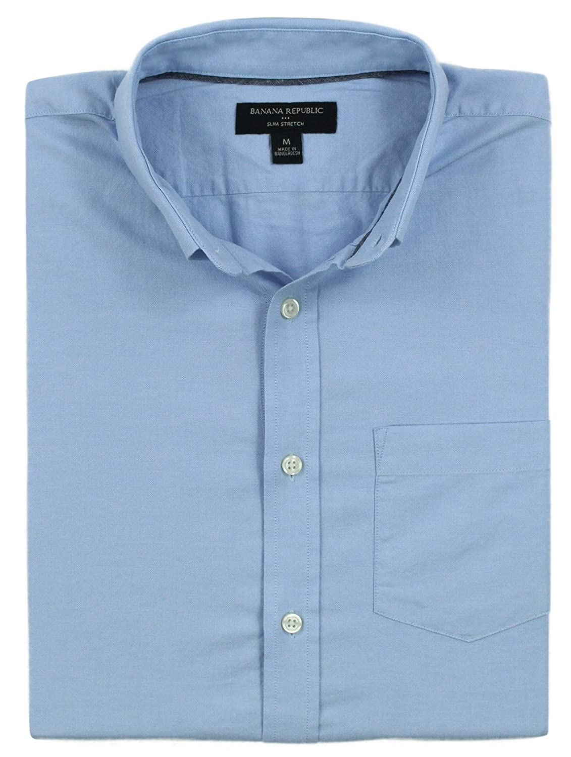 b5894ebd Cotton, machine washable. Slim fit, cut more narrowly through the chest and  sleeves. Button down collar. Single chest pocket. Long sleeves, easily  cuffed.