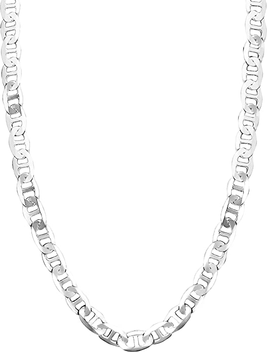 Honolulu Jewelry Company Sterling Silver 4.5mm 8mm Mariner Link Chain Necklace or Bracelet 7.5-28