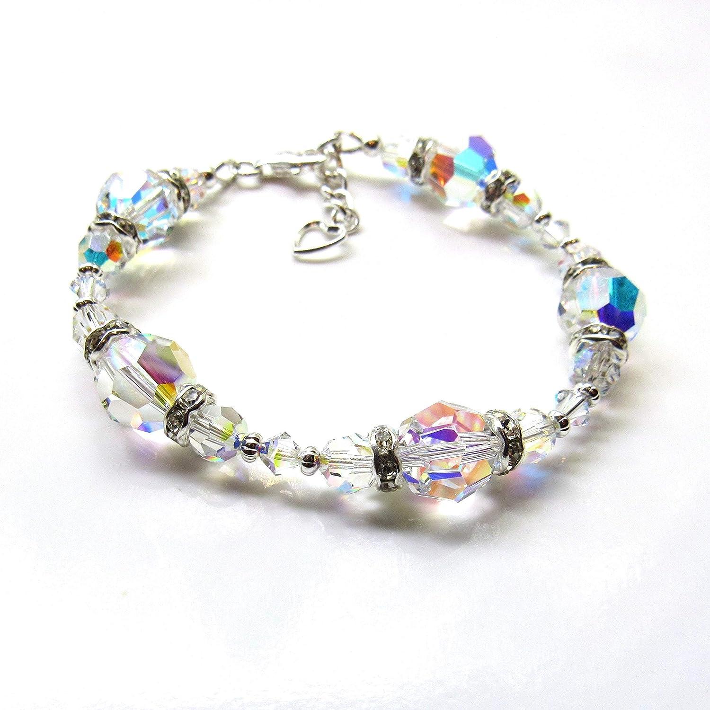 Swarovski Crystal Bracelets for Women, Aurora Borealis Crystals Genuine  Swarovski Jewelry, Gift for Wife, Gift for Girlfriend, Ladies Jewelry  Bracelet