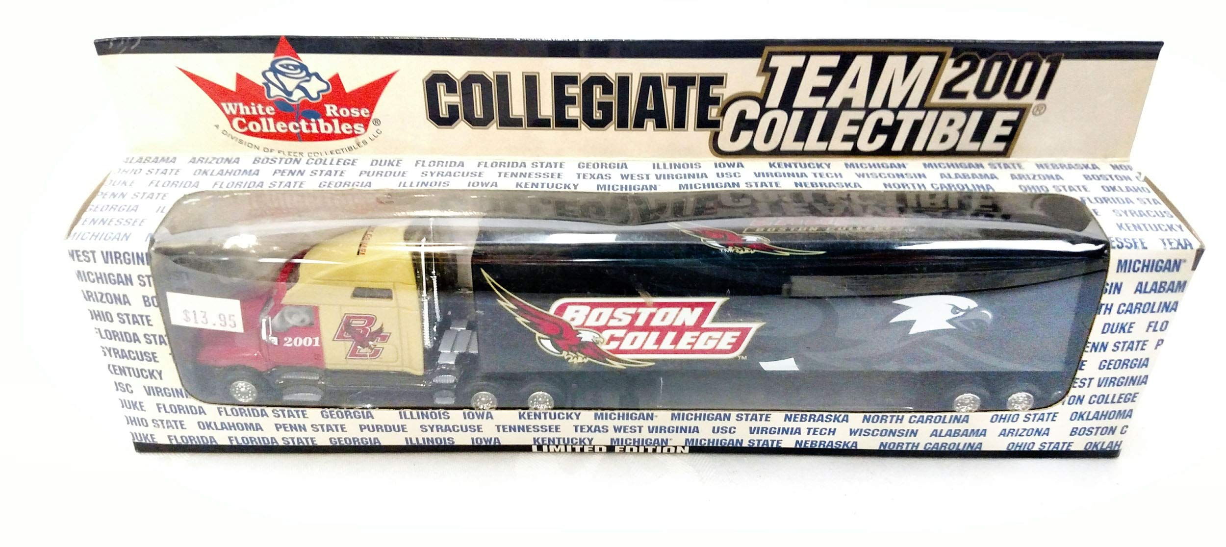 Boston College 2001 Limited Edition Die Cast Tractor Trailer