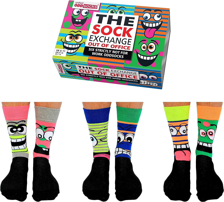 UK 6-11 US 7-12 EUR 39-46 United Oddsocks Mens Oddsocks- The Sock Exchange Out of Office