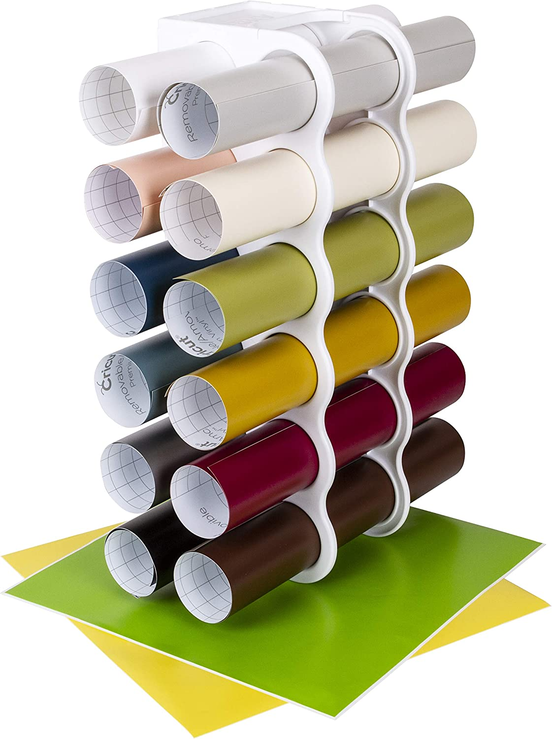 """Stacking Storage for 12/"""" Vinyl Rolls to display your colours when crafting"""
