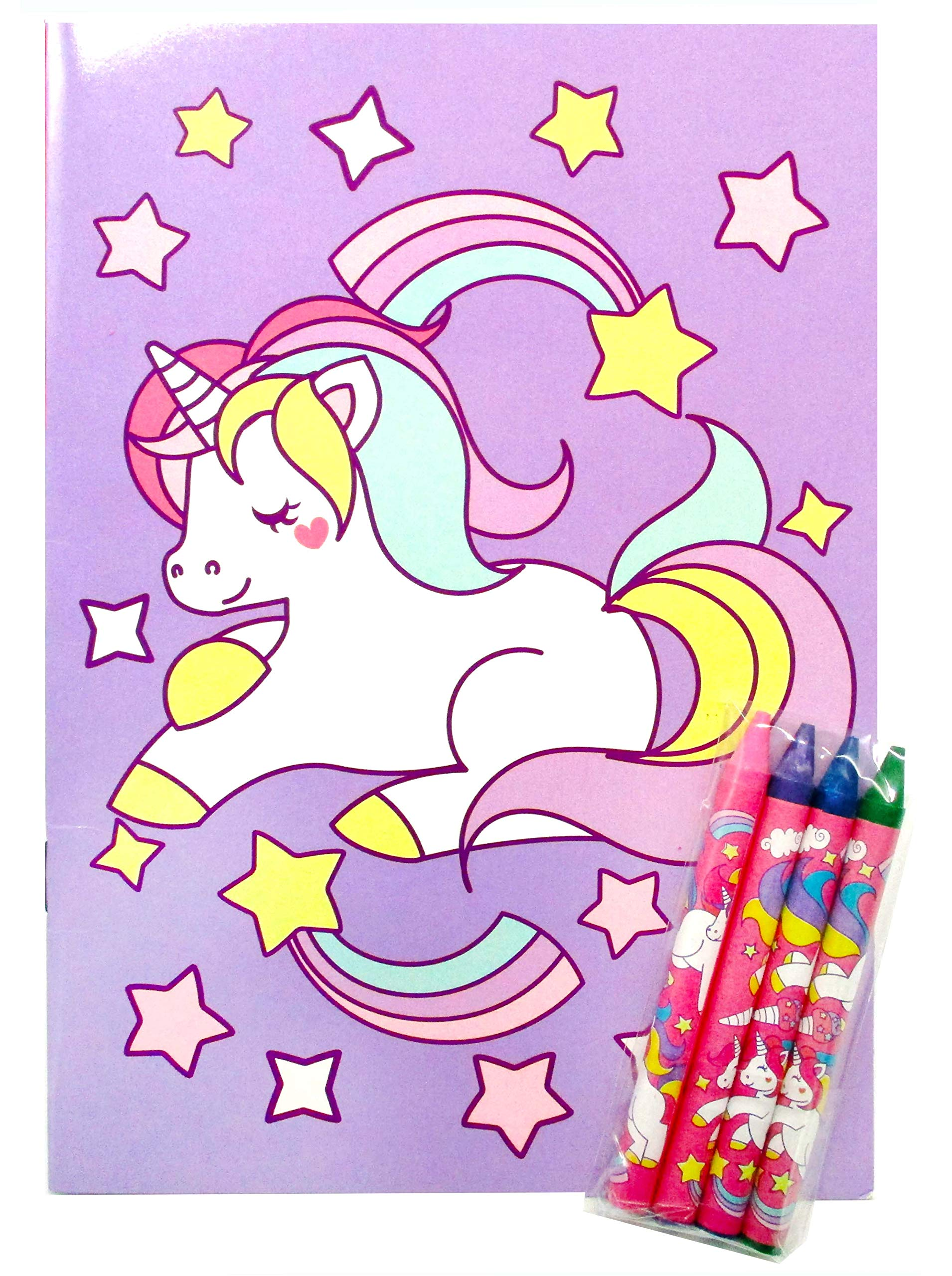 Unicorn Coloring Books with Crayons Party Favors, Set of 12 9
