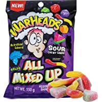 Warheads All Mixed Up Candy, Blue Raspberry, 150 g, 12 Count