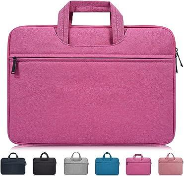 Men and Women Laptop Bag Diagonal Business Document Briefcase Handbag Waterproof Shockproof Portable Tablet Bag Laptop Bag Suitable for Students to Work 13 14 15.6 Inch
