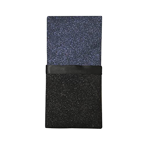 Navy and Black Glitter pocket square for men, 2     - Amazon com