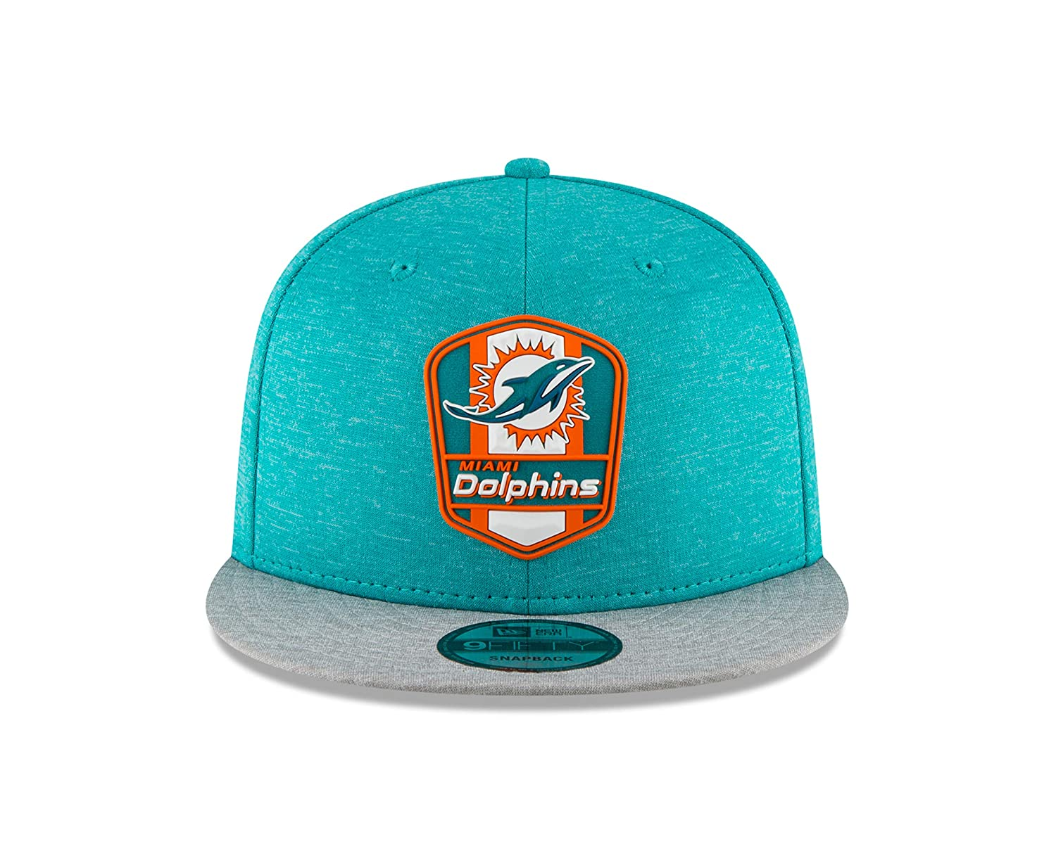 Amazon.com   New Era Miami Dolphins 2018 NFL Sideline Road Official 9FIFTY  Snapback Hat   Sports   Outdoors d85206eb86a