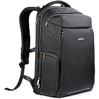 Inateck DSLR Kamera-Rucksack mit Laptop-Fach,Reiserucksack 15-15,6 Zoll Laptops, Zubehörfächer, Regenschutz, Fach für DSLR-Kamera Objektive größenverstellbar, Schwarz
