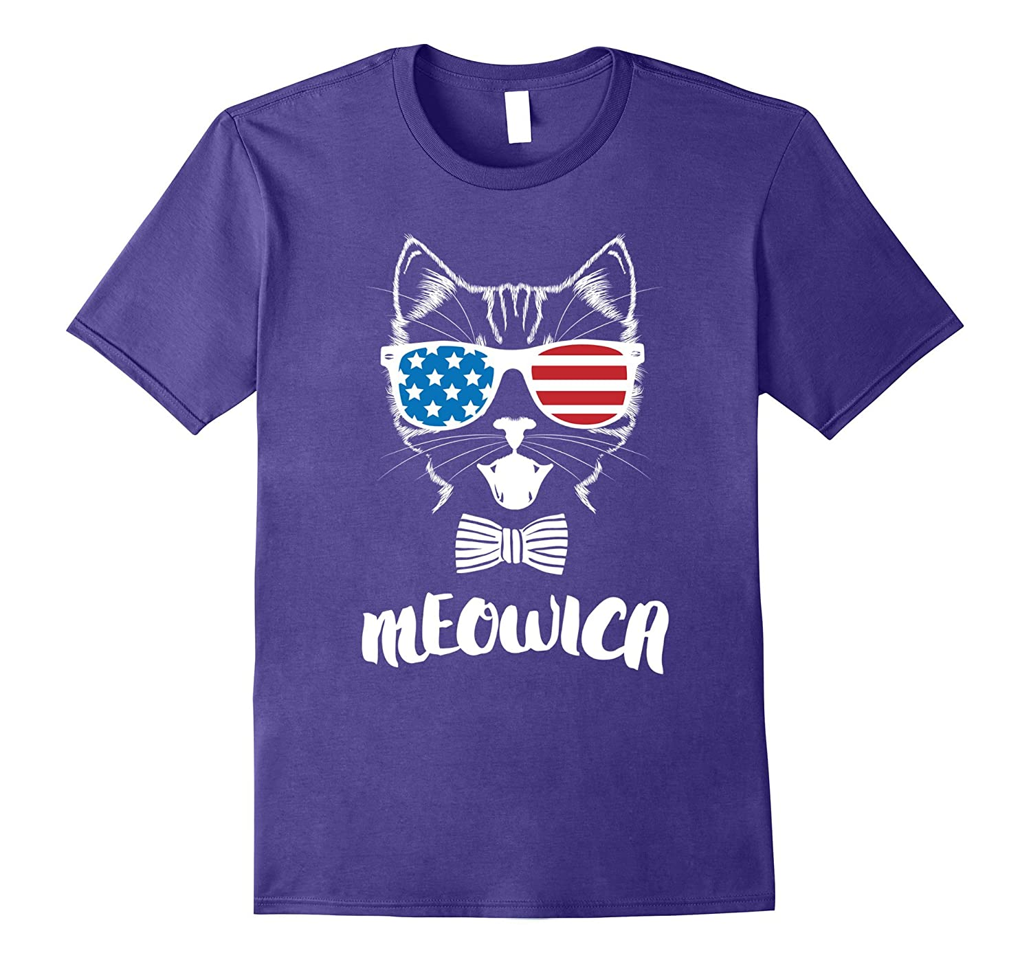 4th of July Meowica Kitty Cat Shirt-PL