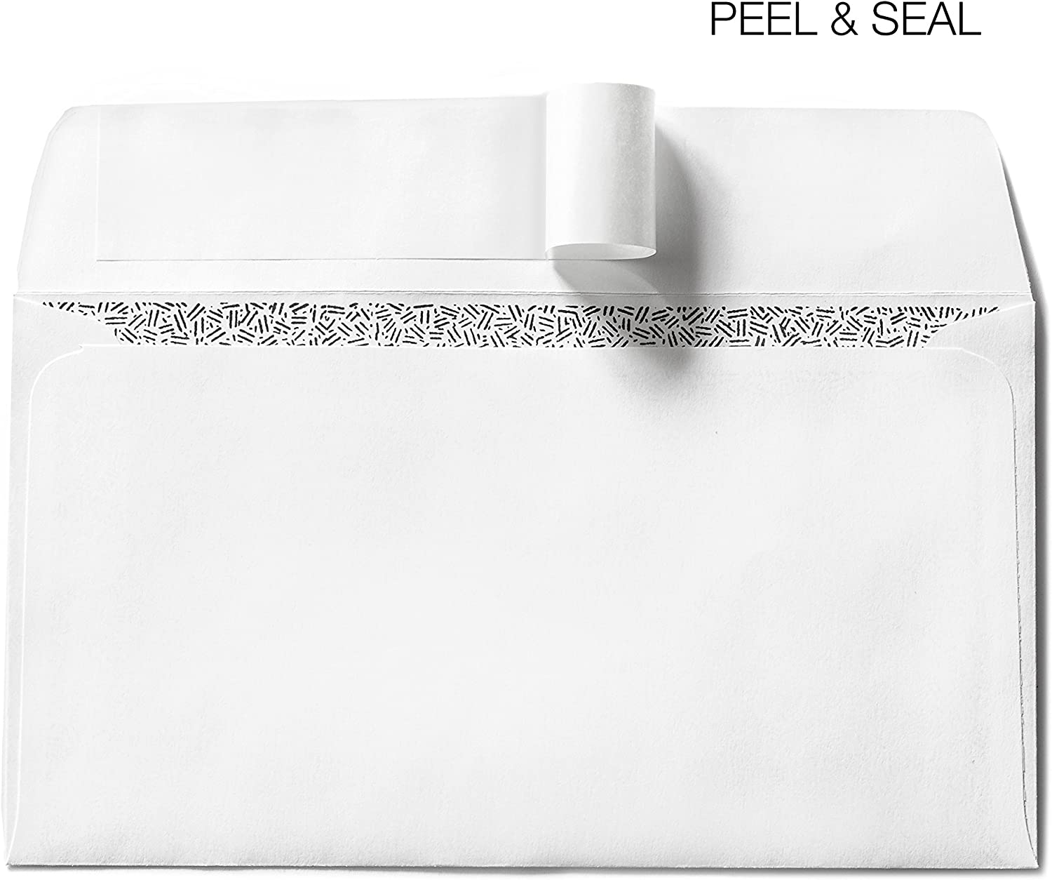 #6 3/4 Security Envelopes White Peel Seal – Bulk Self-Seal Windowless Envelope Pack in 6 1/2 x 3 5/8 Office Size – Tinted Privacy for Business or Personal Mailing – 500 Count Box