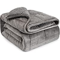 Anjee Sherpa Fleece Weighted Blanket for Adult, 15 lbs Heavy Fluffy Flannel Warm Throw Blanket, Dual Sided Ultra-Soft…