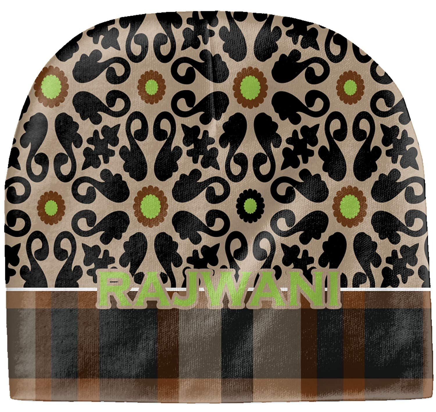 YouCustomizeIt Moroccan Mosaic /& Plaid Baby Hat Beanie Black Personalized