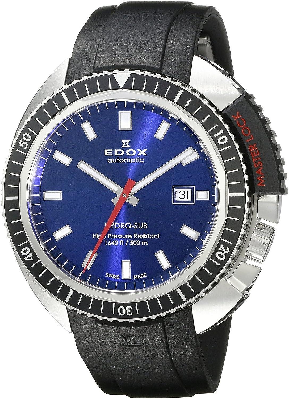 [エドックス]Edox 腕時計 Hydro Sub Analog Display Swiss Automatic Black Watch 80301 3NCA BUIN メンズ [並行輸入品]