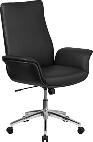 Flash Furniture Mid-Back Black LeatherSoft Executive Swivel Office Chair