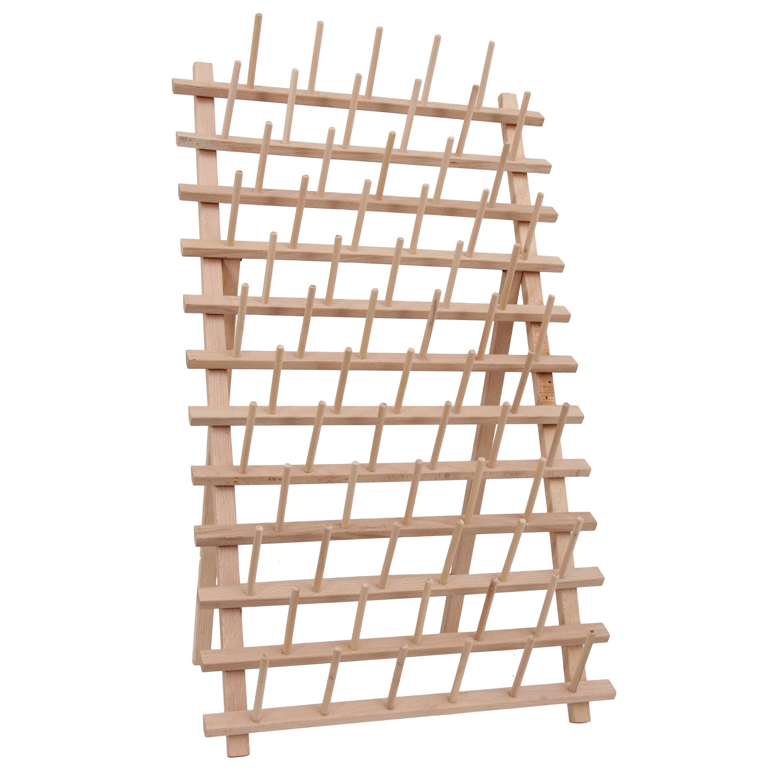 Threadart 66 Large Spool/Cone Wood Thread Rack 3 by Threadart
