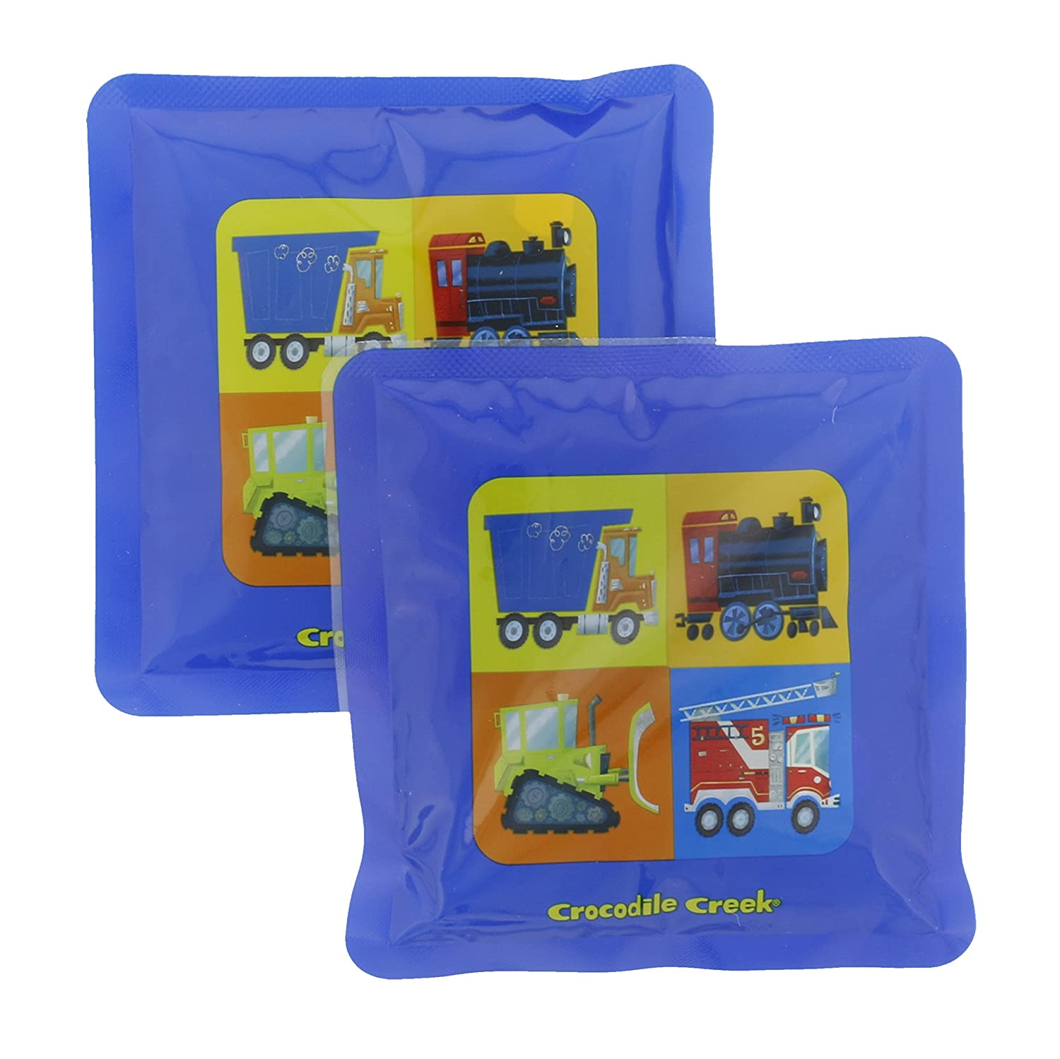 Blue 5 Crocodile Creek Kids Eco Reusable Vehicle Ice Packs for Lunch Boxes Set of 2