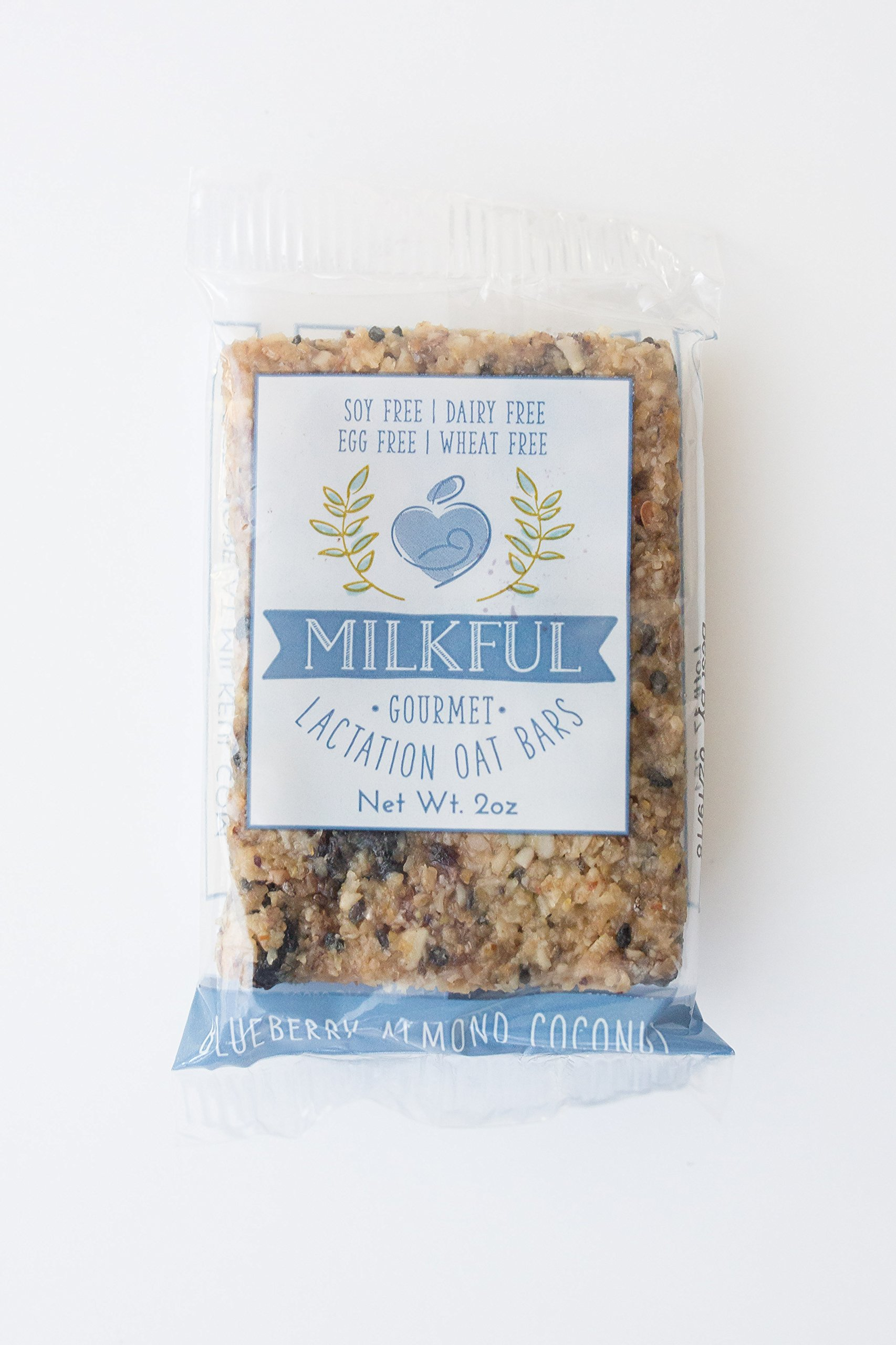 MILKFUL Lactation Bars- Wholesome Alternative to Lactation Cookies for Breastfeeding Moms. Helps Boost Breast Milk Supply.12 Bars. Dairy Free, Egg Free, Soy Free, Wheat Free (Blueberry Almond Coconut) by MILKFUL  (Image #3)