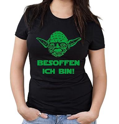 Uglyshirt87 Yoda Spruch Girlie Shirt Star Wars Lustige
