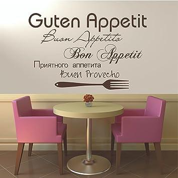 HomeTattoo ® WANDTATTOO Wandaufkleber Guten Appetit Bon Appetit ...