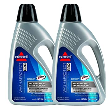 2 x Bissell Wash & Protect Pro Carpet Cleaner - 1.5 Litre 1.5L Concentrated Formula