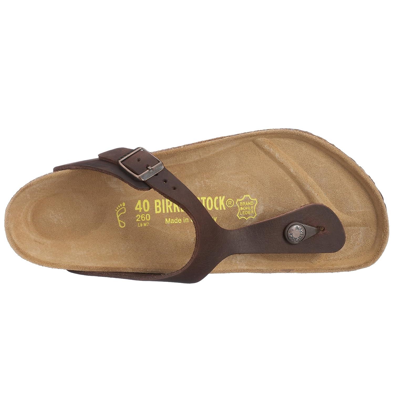 dbff376f6856 Birkenstock Classic Gizeh Leder Unisex-Erwachsene Zehentrenner  Amazon.de   Schuhe   Handtaschen