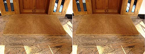 Kempf Natural Coir Coco Doormat, 24 by 39-Inch Pack of 2
