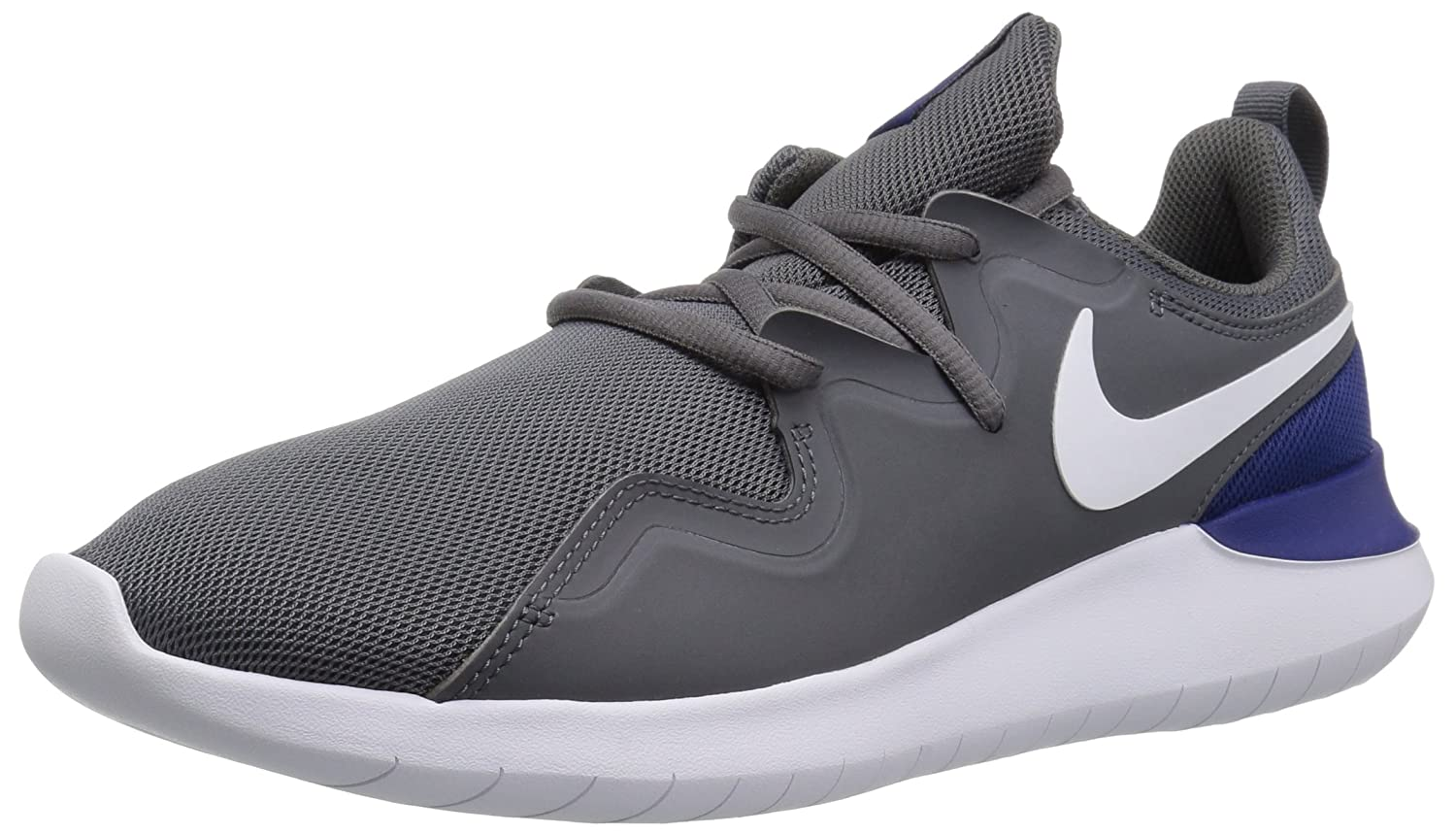 NIKE Men's Tessen Running Shoe B00O86X3WE 6.5 D(M) US|Dark Grey/White - Deep Royal Blue