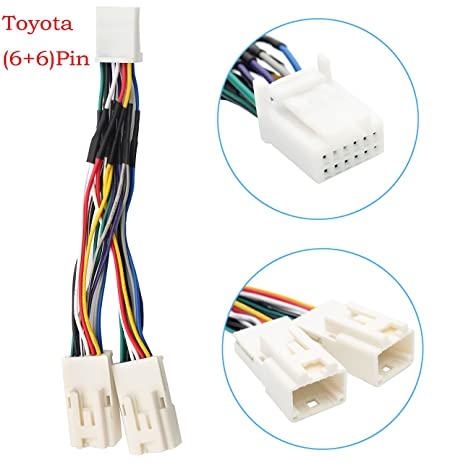 81TTAy1975L._SY463_ amazon com auxillary adapter,yomikoo y cable radio wiring harness 2014 Scion tC Radio Rear at webbmarketing.co