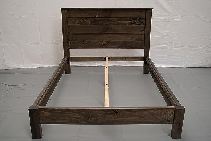 Amazon Torched Farmhouse Platform Bed W Headboard
