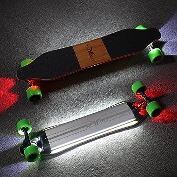 Buffalo Electric Adaptador HUB Longboard Skateboard - 25 mph con luz LED Remote Control por Bluetooth, 36 Pulgadas de Monopatines motorizados Regalos para ...