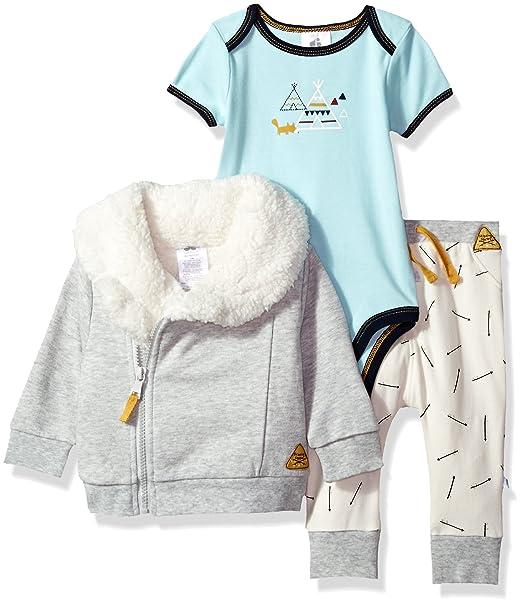 7189c7b038f9 Amazon.com  JUST BORN Baby Boys Skipping Stones 3 Piece Jacket Set ...