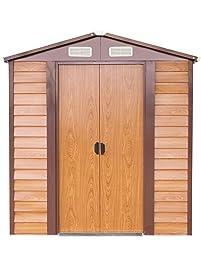 papabox outdoor storage shed large backyard garden garage utility tool kit building