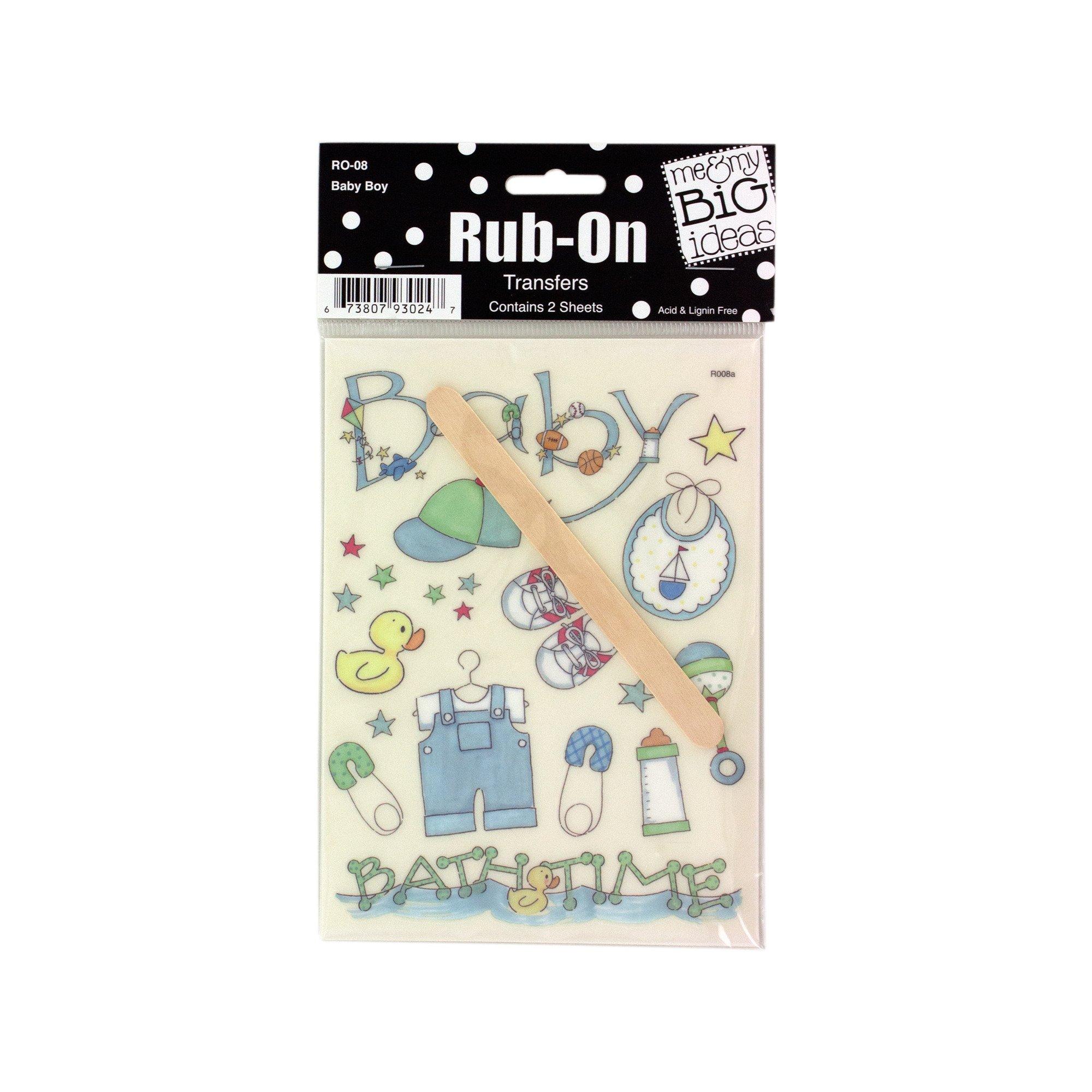 123-Wholesale - Set of 48 Baby Boy Designs Rub-On Transfers - Scrapbooking Rub-ons
