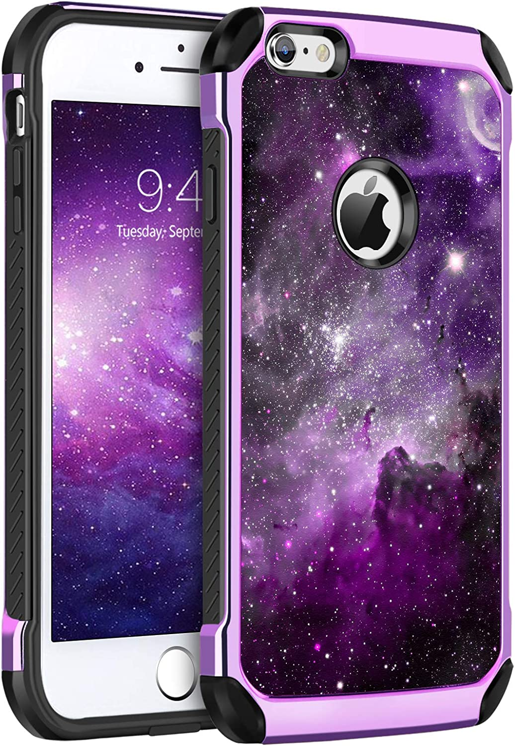 BENTOBEN iPhone 6S Plus Case, Slim Fit Glow in The Dark Shockproof Dual Layer Hybrid Hard PC Soft TPU Bumper Drop Protection Girl Women Covers for iPhone 6/6S Plus 5.5