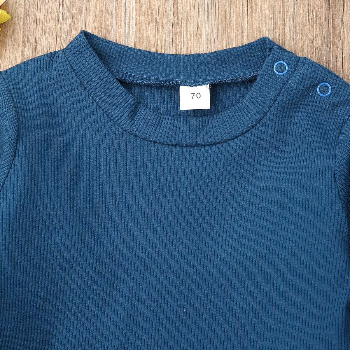 Opperiaya Baby Boys Girls Organic Cotton Soft Solid Sleepwear Tee+Pants 2pcs Pajama Set Sleeper Outfit