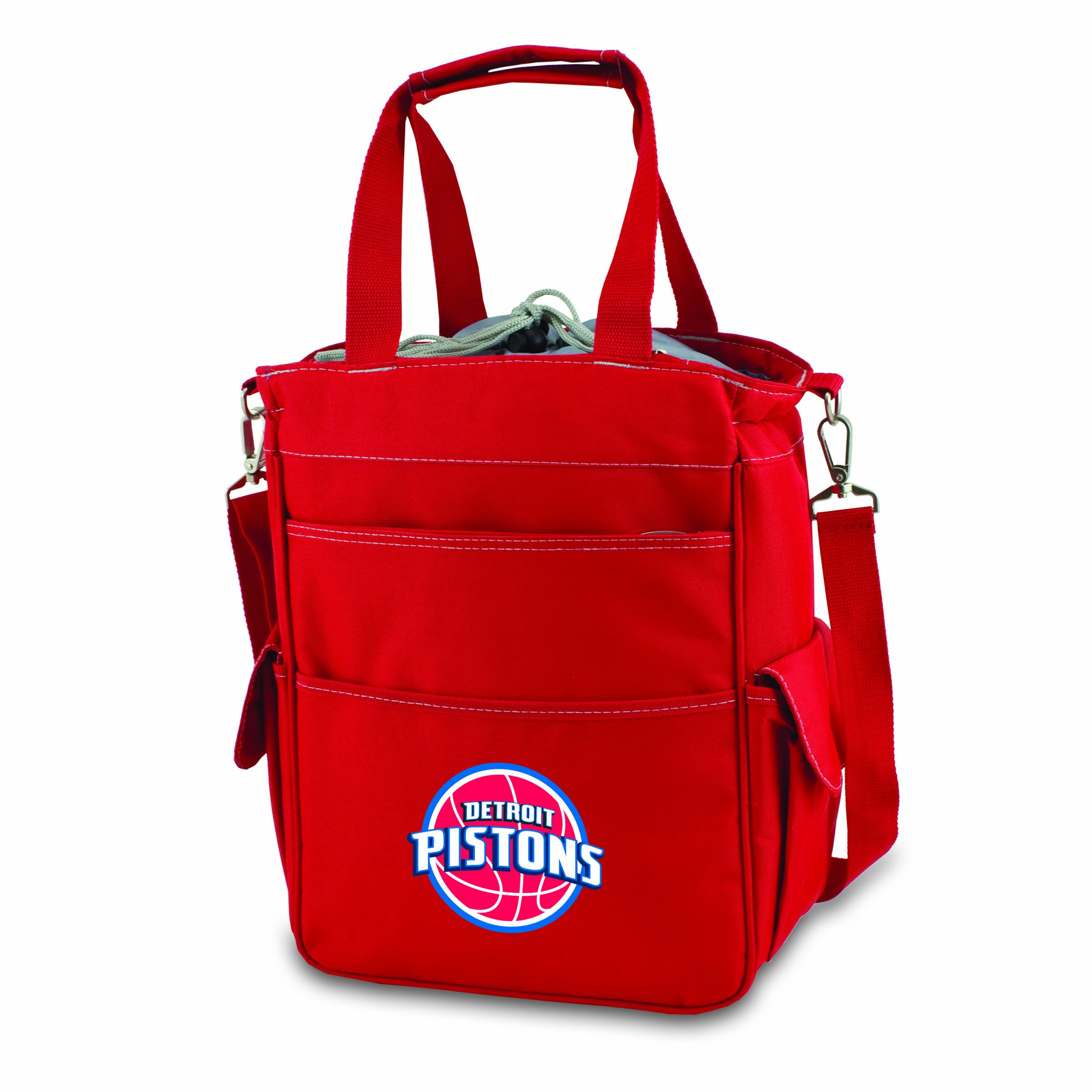 PICNIC TIME NBA Detroit Pistons Insulated Activo Cooler Tote, Red by PICNIC TIME