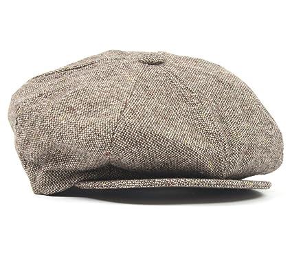 New York Hat co. Wool Tweed Fleck Newsboy Hat (L 3a2de6a2c82
