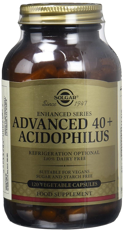 Solgar Solgar 40+ Acidophilus Plus Avanzado Cápsulas vegetales - Envase de 120: Amazon.es: Salud y cuidado personal