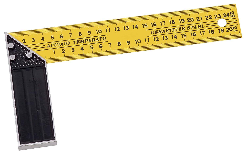 KS Tools 300.0223 - Cartabó n graduado (400 mm, base de aluminio, lá mina de acero) lámina de acero)