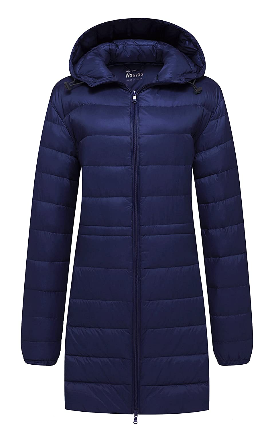 Navy Wantdo Women's Hooded Packable Ultra Light Weight Down Coat
