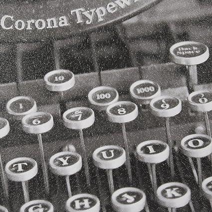 Ink+Ivy Vintage Typewriter Gel Coated Canvas Black/White See Below