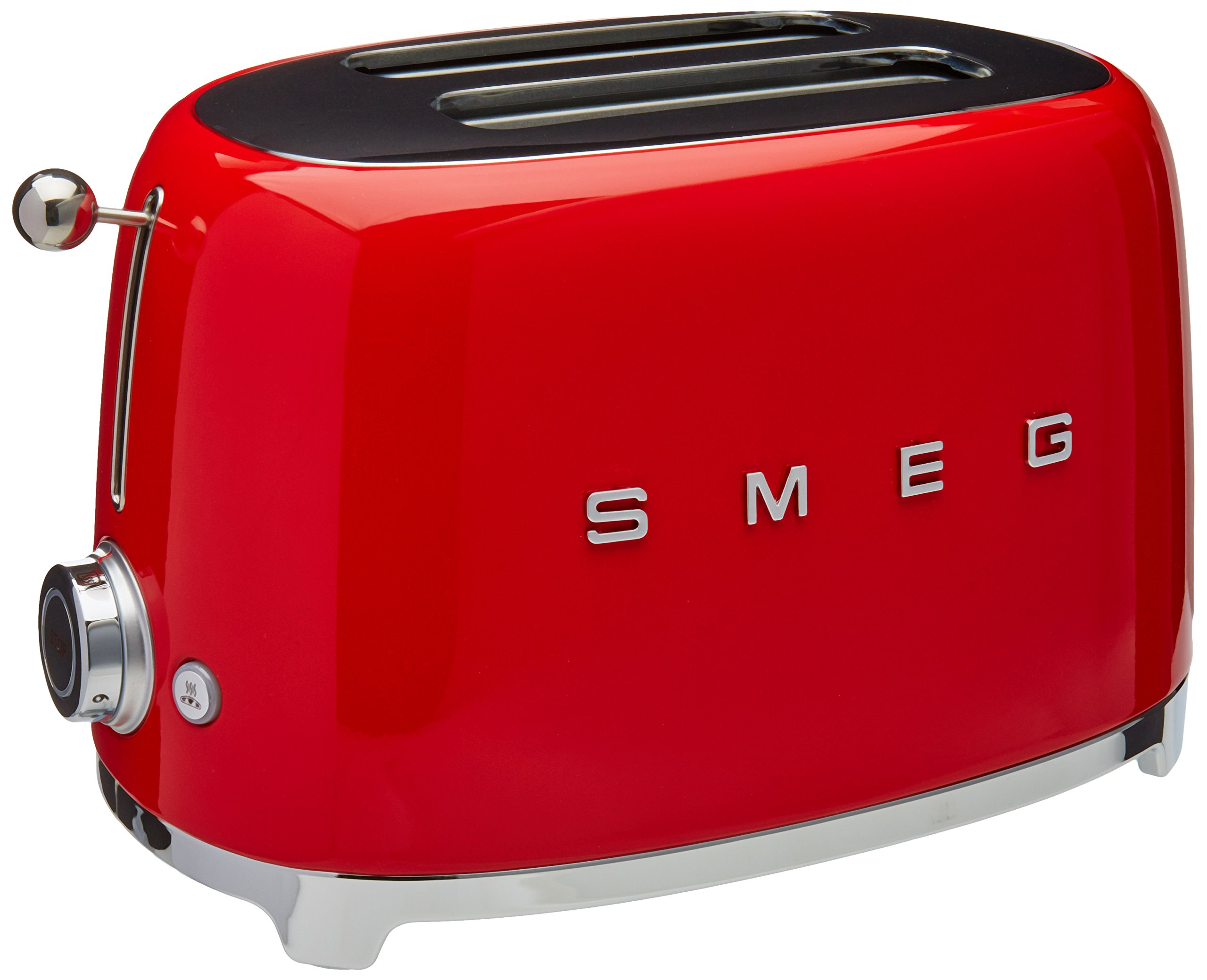 Smeg TSF01RDUS 50's Retro Style Aesthetic 2 Slice Toaster, Red