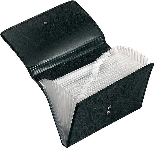 Veloflex 4445880 - Carpeta portadocumentos (DIN A4, 12 compartimentos de tipo acordeón, con pestañas, cierre magnético): Amazon.es: Oficina y papelería