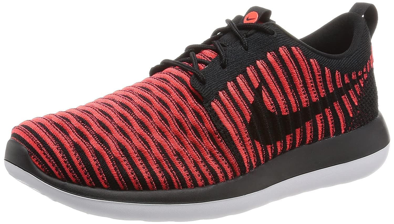 premium selection c2c37 a05de Nike Mens Roshe Two Flyknit Black/Black/Bright Crimson Running Shoe 9 Men US