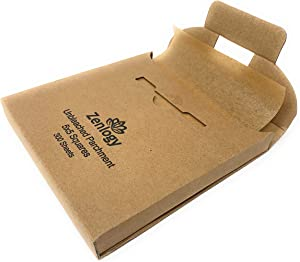 Zenlogy 5x5 (300 Sheets) Unbleached Parchment Paper Squares - Perfect for Storing, Freezing, Separating, Baking, Diamond Painting - Comes in Easy Pullout Storage Box