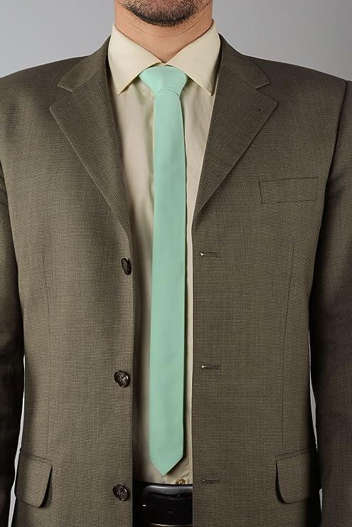 Corbata de lino color menta hecha a mano: Amazon.es: Hogar