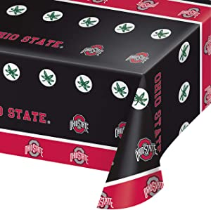 Ohio State University Plastic Tablecloths, 3 ct